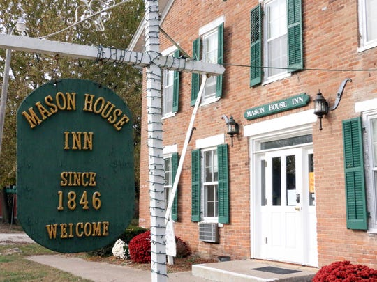 The Mason House Inn was built in 1846 along the Des Moines River in downtown Bentonsport.