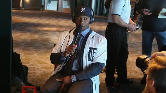 """Justin Upton was the focal point at his news conference Wednesday, but he won't have to be every day. """"Oh, man, this is going to be fun,"""" he said. """"I'm coming into a situation in which there are so many great players."""""""