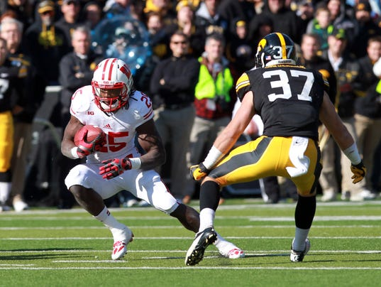 NCAA Football: Wisconsin at Iowa