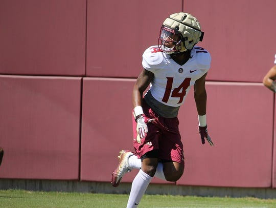 FSU safety Cyrus Fagan during FSU spring practice in