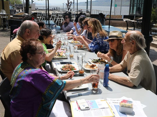 The Yonkers lunch group that meets every Thursday, sit down for their meal at Dolphin restaurant on the Yonkers waterfront, May 3, 2018.