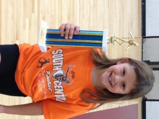 Zoe Mellott, of McConnellsburg, won the U8 girls championship