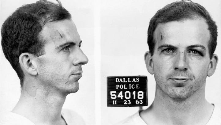 Lee Harvey Oswald's mug shot taken after he was arrested