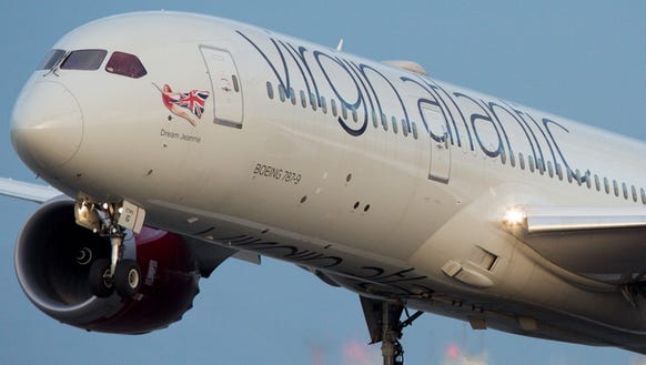 A Virgin Atlantic Boeing 787-9 takes off from San Francisco