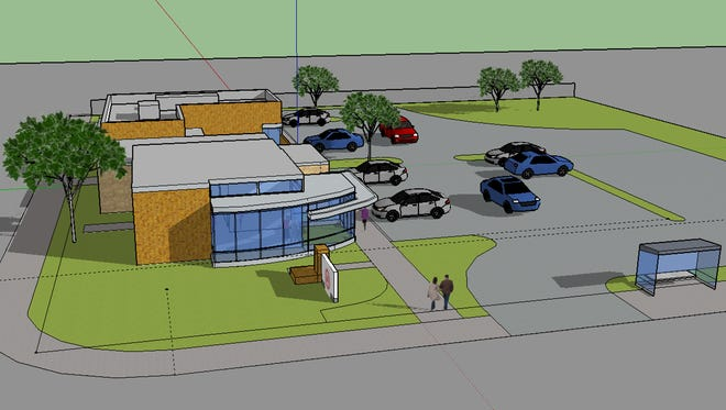 The Urban League of Greater Southwestern Ohio will upgrade its Buford Gaston Sickle Cell Building at Reading Road and Dana Avenue, in Avondale, with an innovation center designed to increase access to technology among an underserved population. Reading Road is in the foreground of this rendering, Dana Avenue to the left.