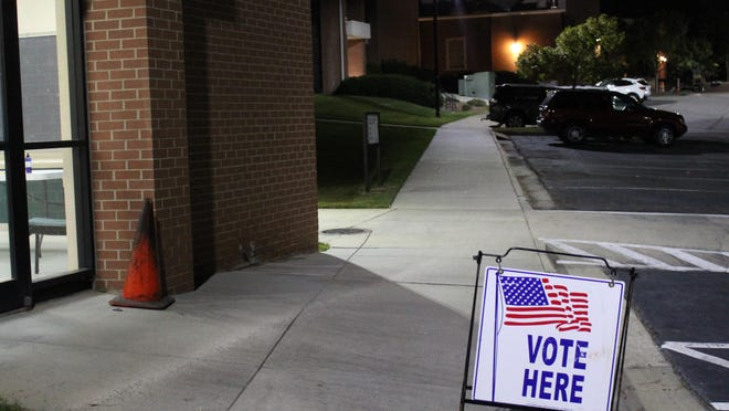First Baptist Church polling location after polls closed on Nov. 3, 2020 in Augusta, Ga.