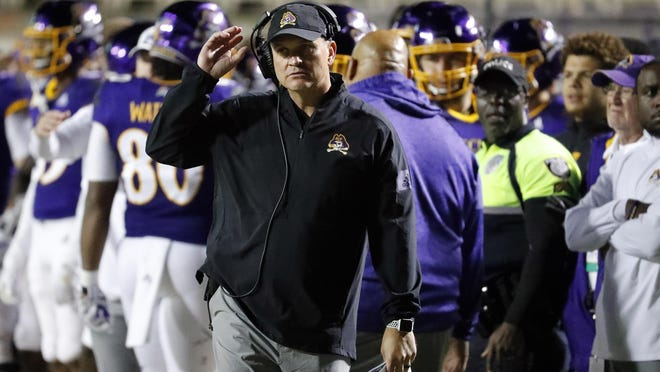 East Carolina head coach Mike Houston