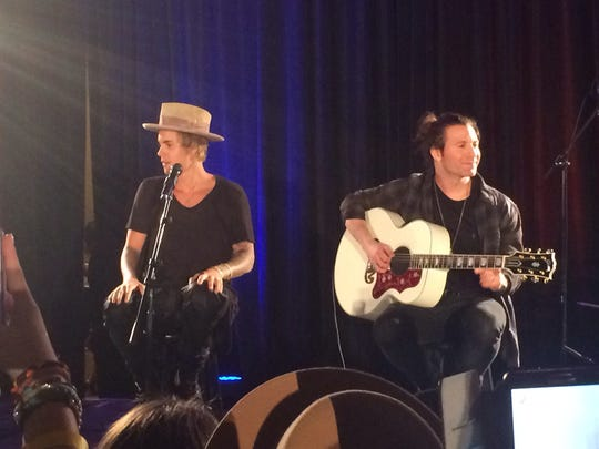 Justin Bieber performs at La Quinta Resort & Club during Will Ferrell's Desert Smash charity concert Tuesday.