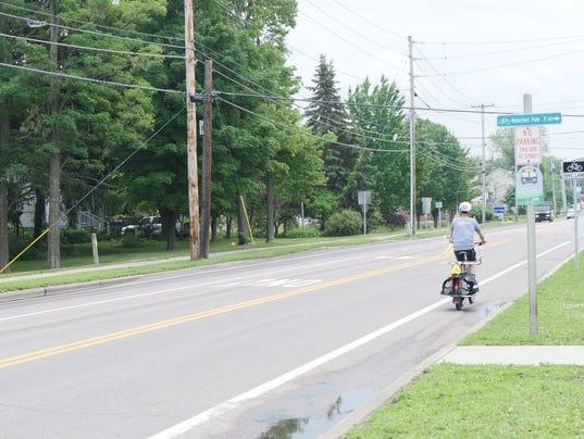 Biker on North Avenue