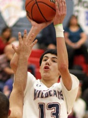 Sophomore Robert Ornelas (13) kept the Santa Teresa