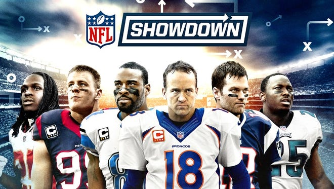 Promotional art for the Zynga game 'NFL Showdown.'