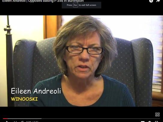 Eileen Andreoli speakin gin Dec. 2012 regarding the
