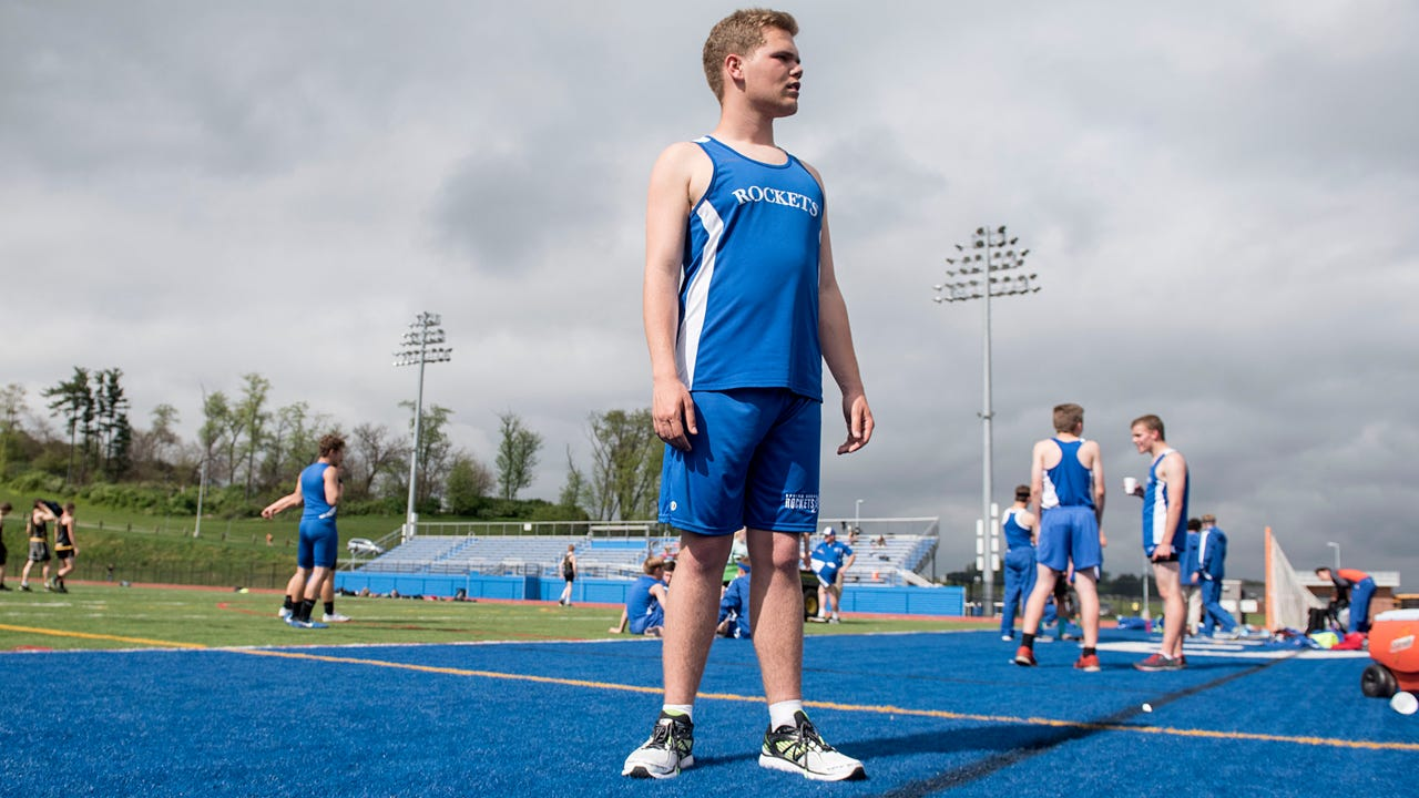 Tommy Salter has non-verbal autism, and is one of three athletes on Spring Grove's track and field team with a learning disability. Ty Lohr, GameTimePA