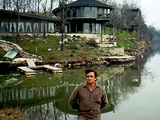"Johnny Cash is at his ""nature house"" on Old Hickory"