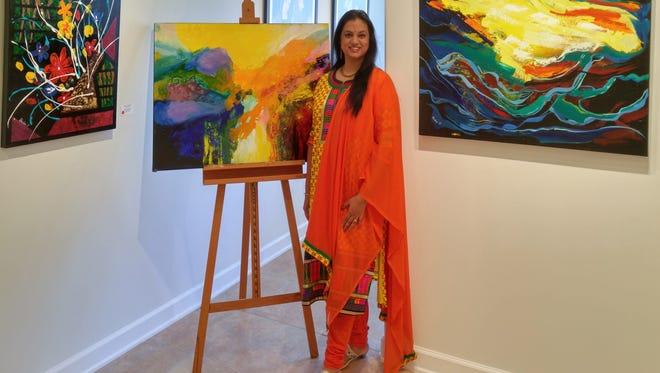 Brinda Pamulapati, abstract artist