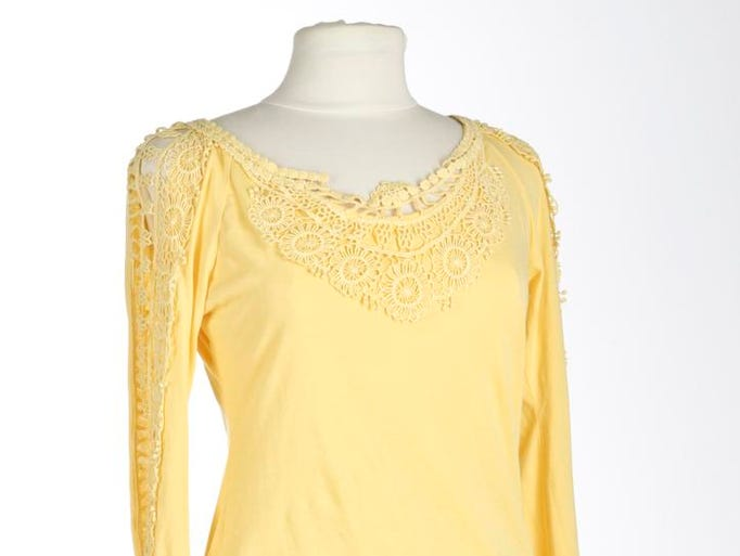 Sister Dragonfly Yellow cotton knit shirt.. May 1, 2014