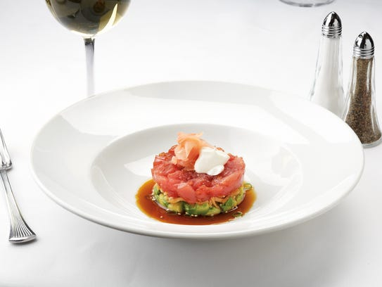 The ahi tuna tartare is a signature appetizer at Ocean