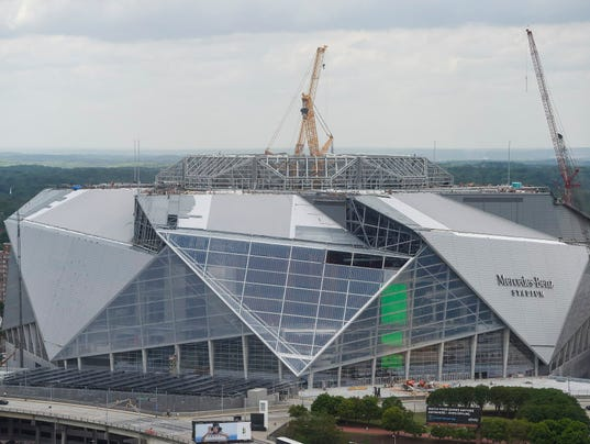 Official for atlanta 39 s new stadium says it will open in for Mercedes benz stadium atlanta