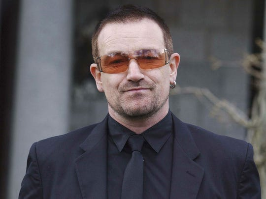 Bono will perform with U2 Sept. 10 at Lucas Oil Stadium.