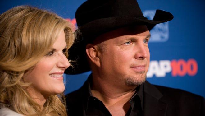 Trisha Yearwood and husband Garth Brooks attend the 2014 ASCAP Centennial Awards Nov. 17, 2014, in New York.
