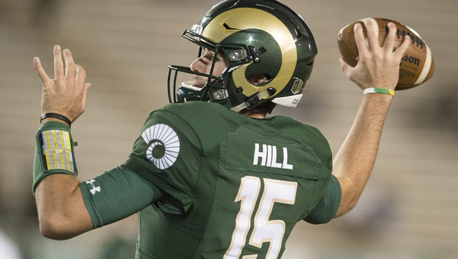 CSU quarterback Collin Hill tore his ACL last week playing basketball.