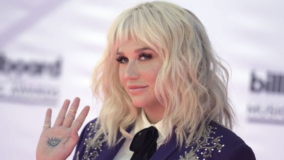 Kesha, seen here at May's Billboard Music Awards, channeled
