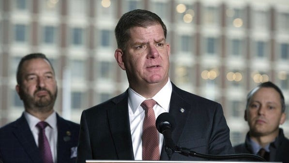 Boston Mayor Marty Walsh speaks during a recent press conference.