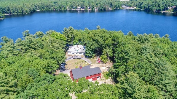 This sprawling property, known as Camp Claire, on Lunenburg Road in Lancaster is on the market for $849,900.