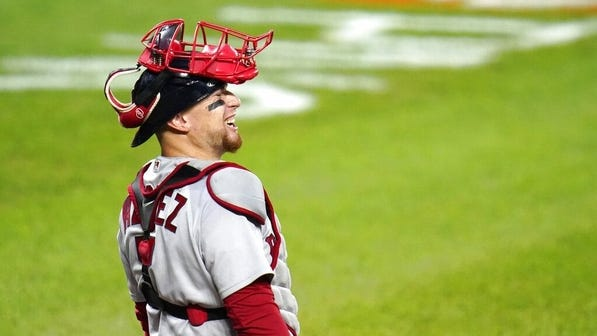 Catcher Christian Vazquez says he would be happy to retire as a Red Sox.