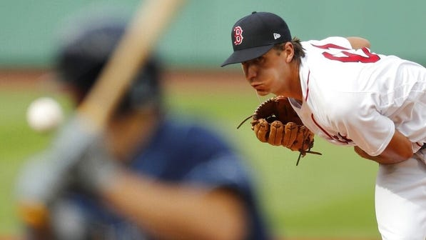 Red Sox starter Kyle Hart pitches against the Tampa Bay Rays last week.