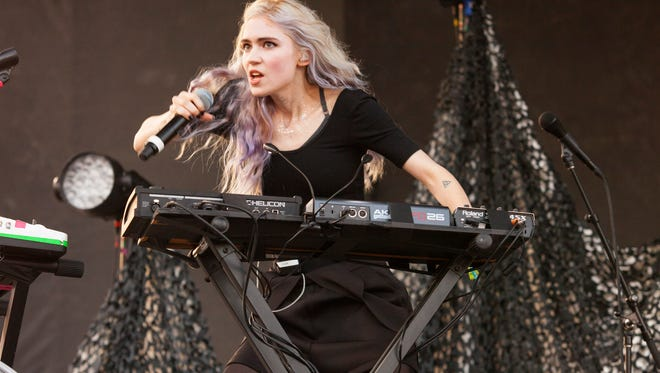 Grimes, seen at Pitchfork Fest in Chicago 2014, performed at Oxford's Dude Ranch in February 2012.
