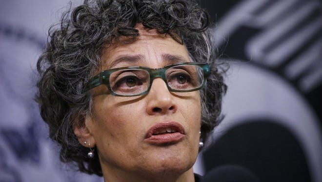 NYC health commissioner Mary Bassett is seen at a press conference in New York on Oct. 24, 2014.