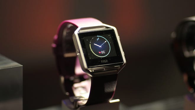 The upcoming $199.95 Fitbit Blaze smartwatch will soon compete with Apple Watch.