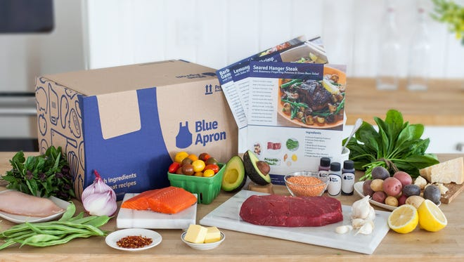 Blue Apron is one of the most well-known meal kit services. The company delivers a box with ingredients to make three meals.