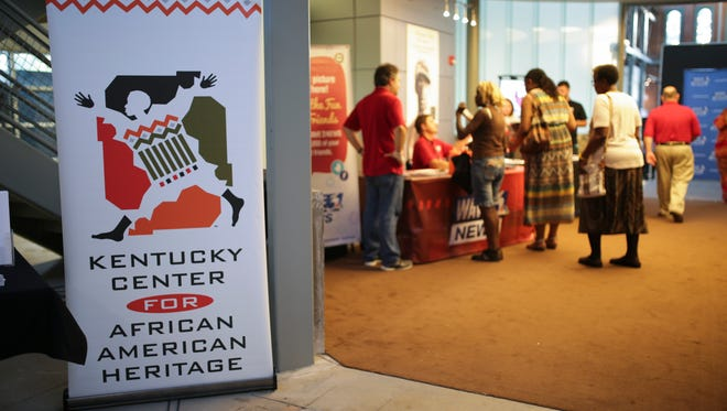 Attendees begin to arrive at the Kentucky Center for African American Heritage during the WAVE3 TV watch party for Louisville quartet Linkin' Bridge as they compete on America's Got Talent. Sept. 6, 2016