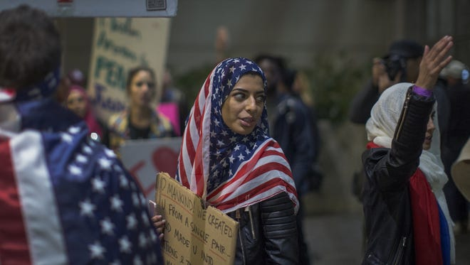 Protesters in Seattle on Feb. 4, 2017.