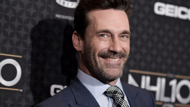 Jon Hamm arrives at the The NHL100 Gala held at the Microsoft Theater on Friday, Jan. 27, 2017, in Los Angeles.