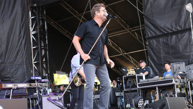 Huey Lewis and the News perform during the 2016 Shaky Knees Festival at Centennial Olympic Park in Atlanta. The band will play at the CareerBuilder Challenge in La Quinta in January. Huey Lewis with Huey Lewis and the News performs during the 2016 Shaky Knees Festival at Centennial Olympic Park on Saturday, May 14, 2016, in Atlanta. (Photo by Robb D. Cohen/Invision/AP)