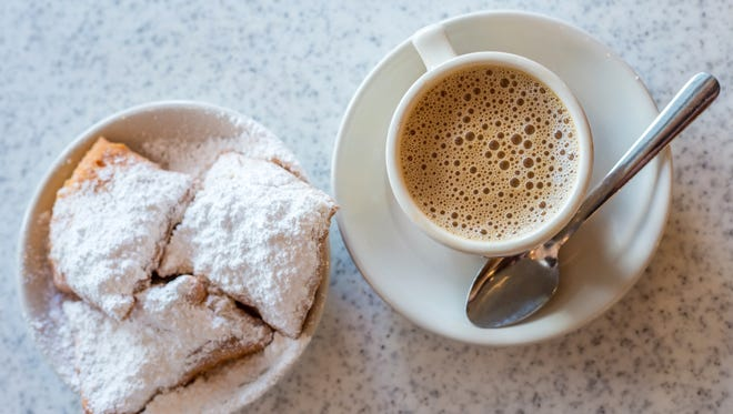 Beignets, French-style doughnuts, will be served for dessert during a New Orleans-themed dinner at Restaurant Nicholas.