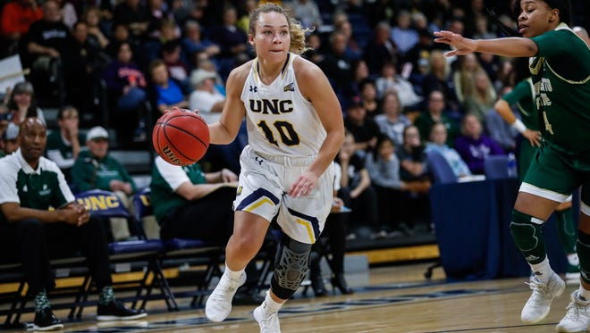 University of Northern Colorado guard Savannah Smith (10) was named the Big Sky Conference's most valuable player.
