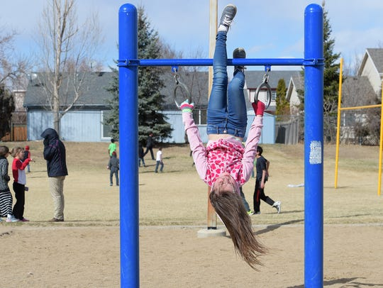 Audrianah Williams plays at recess at Stansberry Elementary