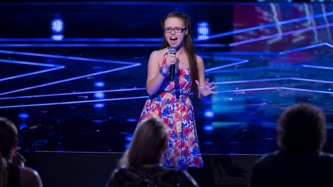"Mara Justine performs during Judgement Week on ""America's Got Talent."""