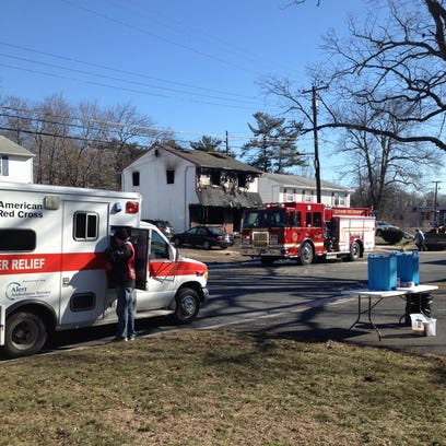 A house on Deptford Road in Glassboro was damaged in
