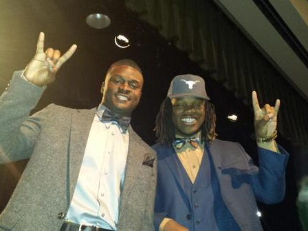 Mesquite Poteet linebacker Malik Jefferson (right) changed the momentum for Texas.
