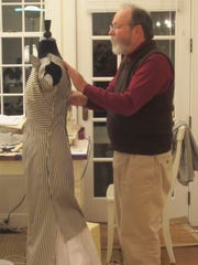 Edward Maeder working on the recreation of a favorite