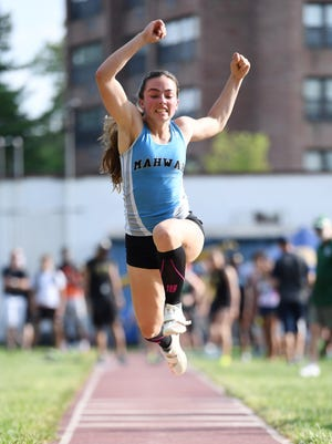 Lauren Stern was fourth in triple jump for Mahwah at the state Meet of Champions.