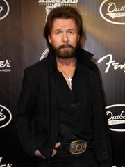 Ronnie Dunn walks the red carpet at the Merle Haggard tribute concert April 6, 2017, at Bridgestone Arena in Nashville.