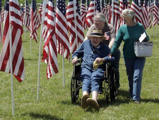 Murfreesboro Noon Exchange Club's Healing Field — Flags