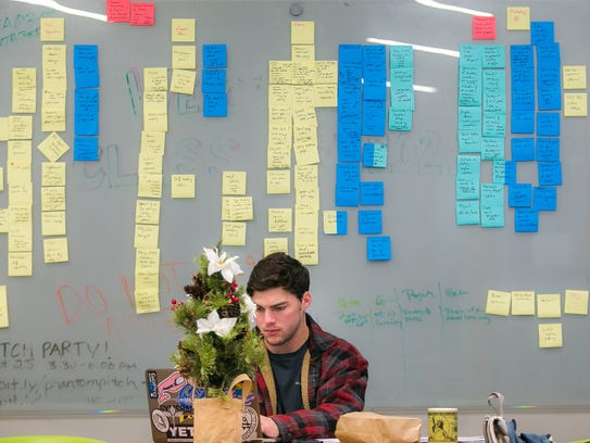 A University of Delaware student studies at the Horn Program in Entrepreneurship's Venture Development Center. The program continues to thrive five years since its inception.
