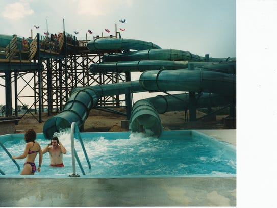 Rainbow Falls, a water park in the village of Plover,